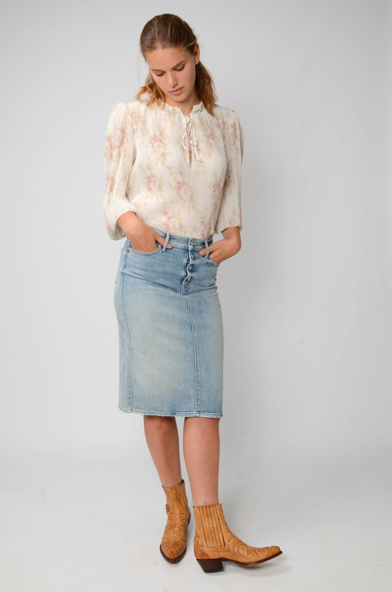 GEORGETTE PLEATED BLOUSE-2