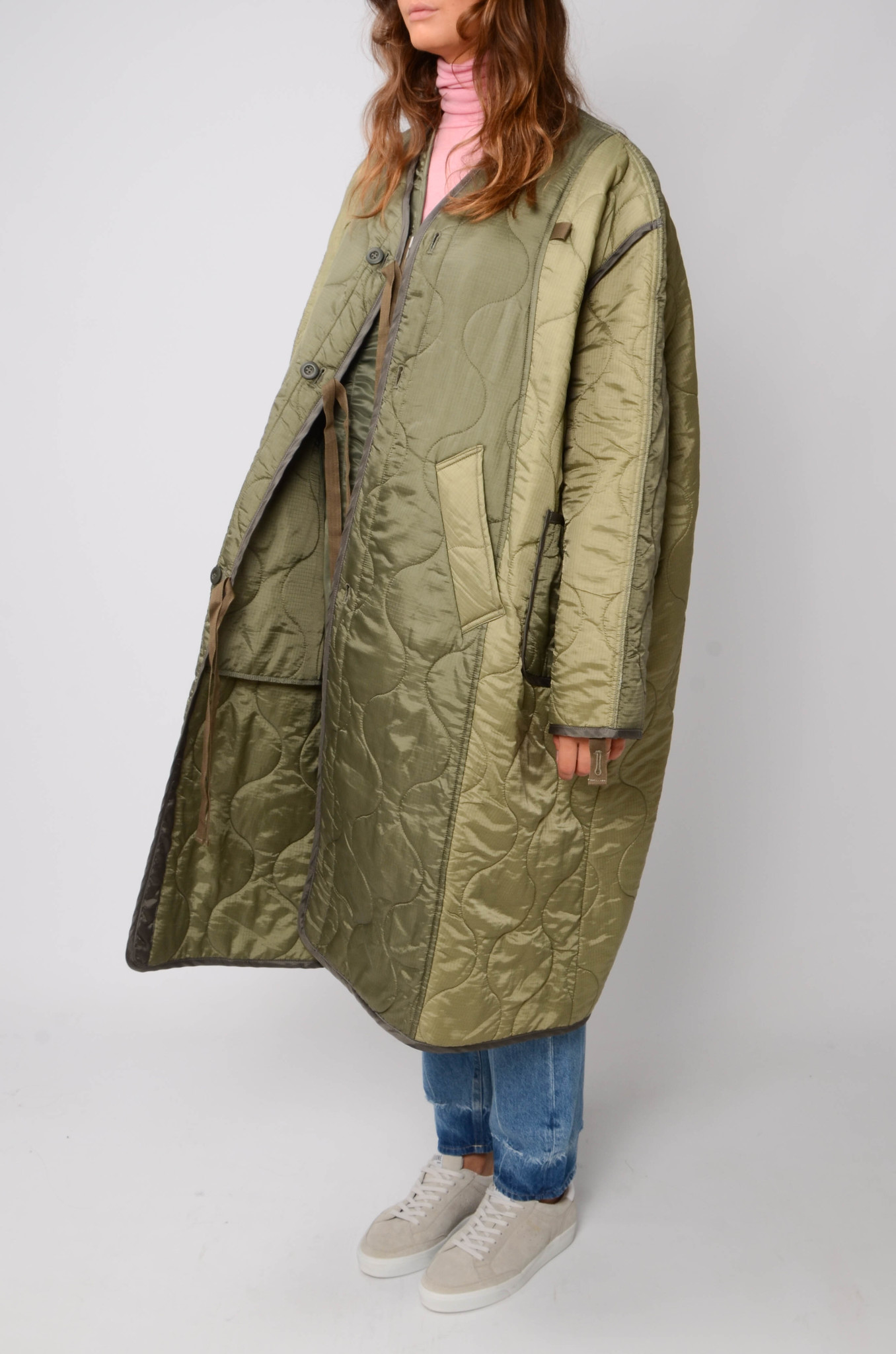 MILITARY QUILTED COAT IN KHAKI-3