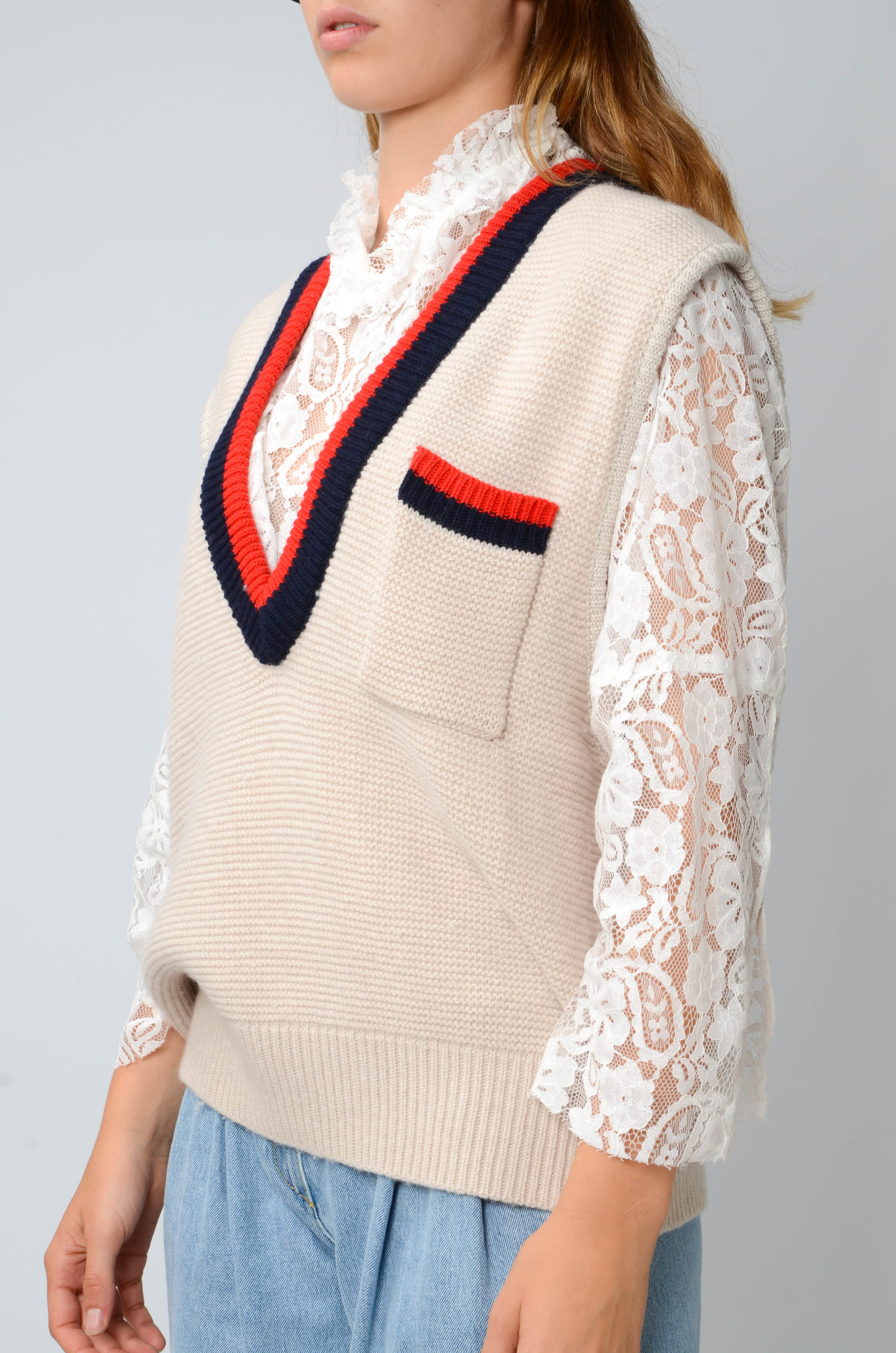COLLEGE KNITTED VEST-3
