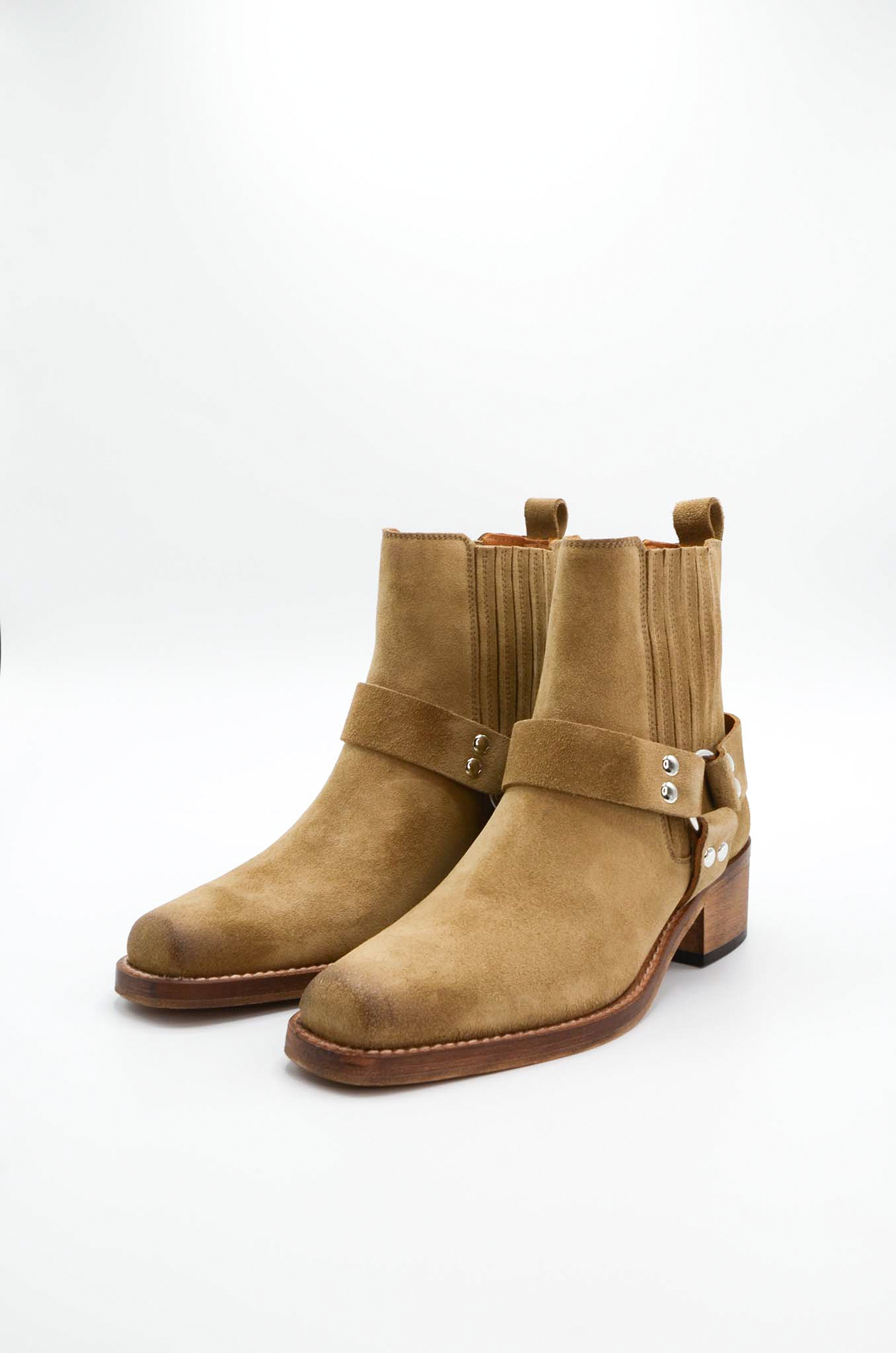 ANKLE BOOTS IN SAND-4