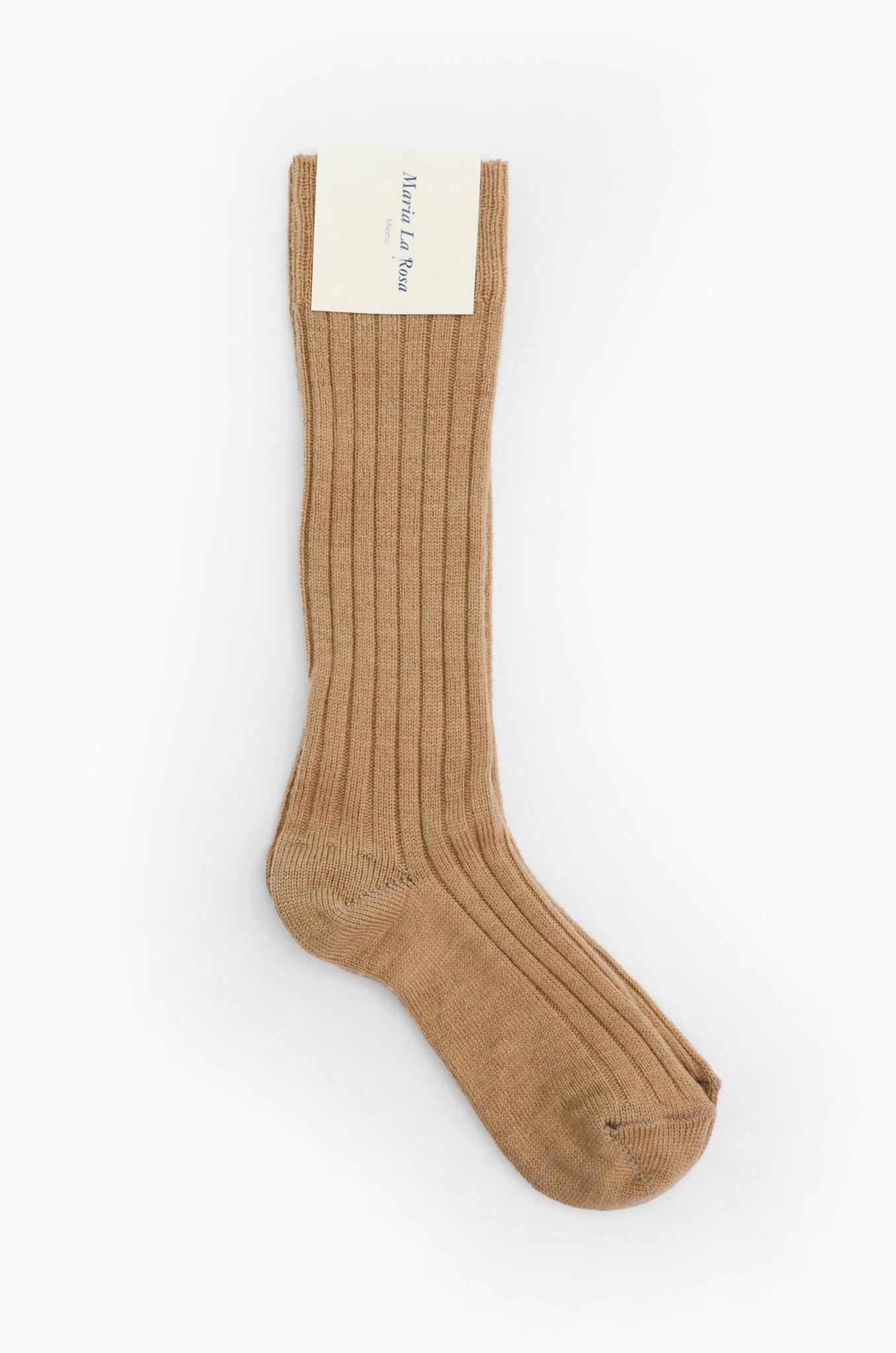 COLLEGE KNEE HIGH SOCKS BEIGE-1