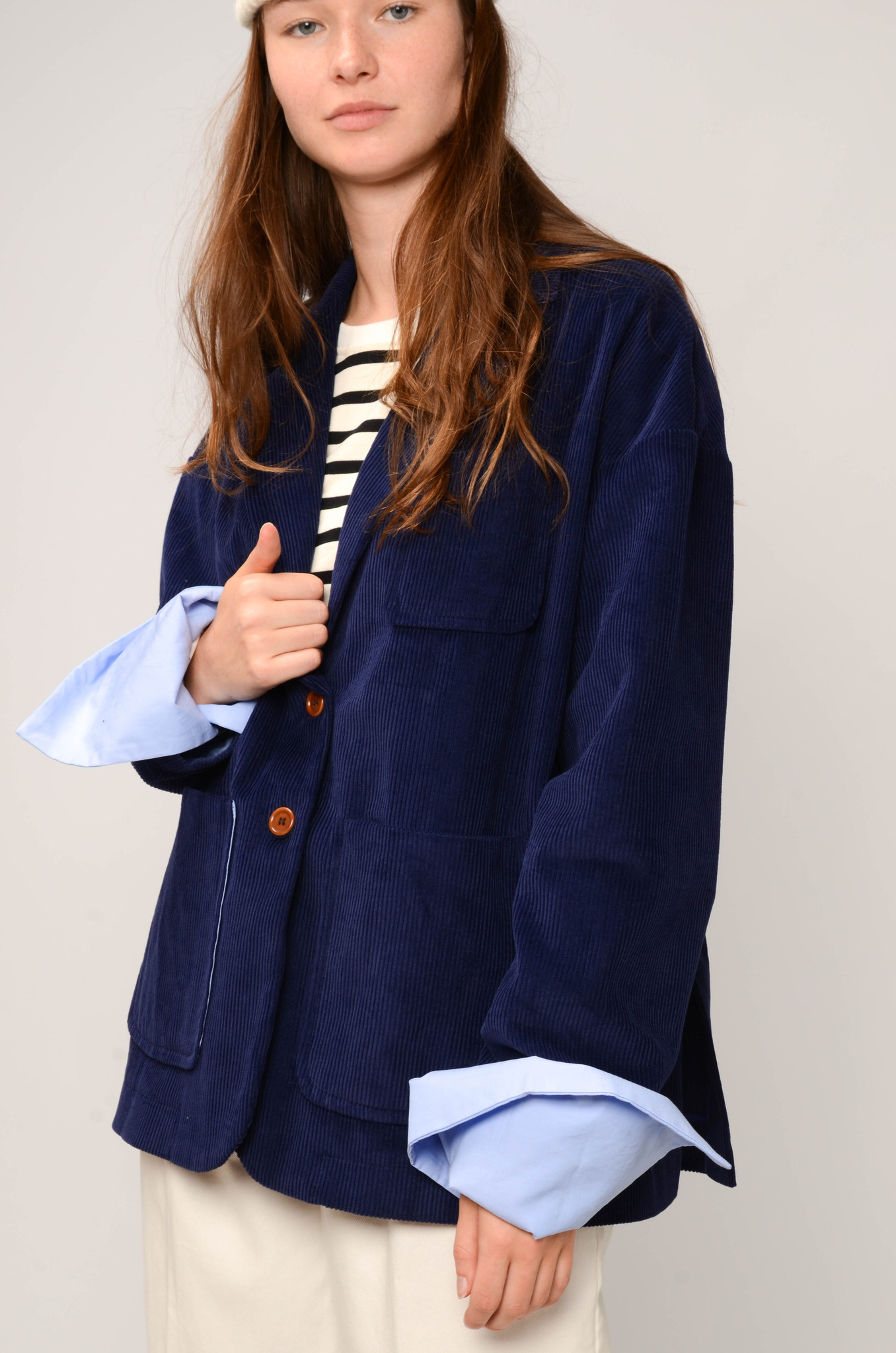CAMILLE JACKET IN ROYAL BLUE-6