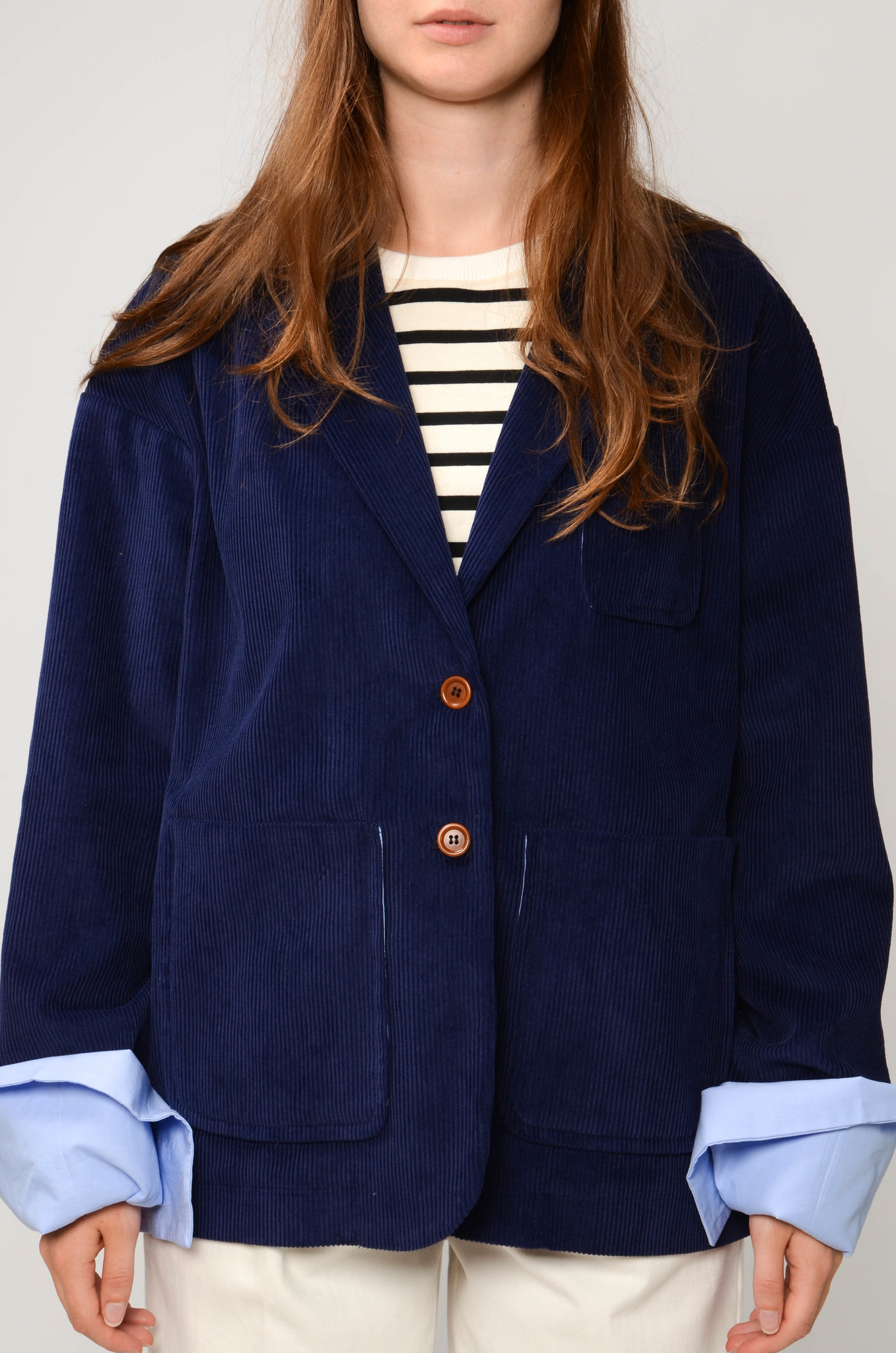 CAMILLE JACKET IN ROYAL BLUE-1