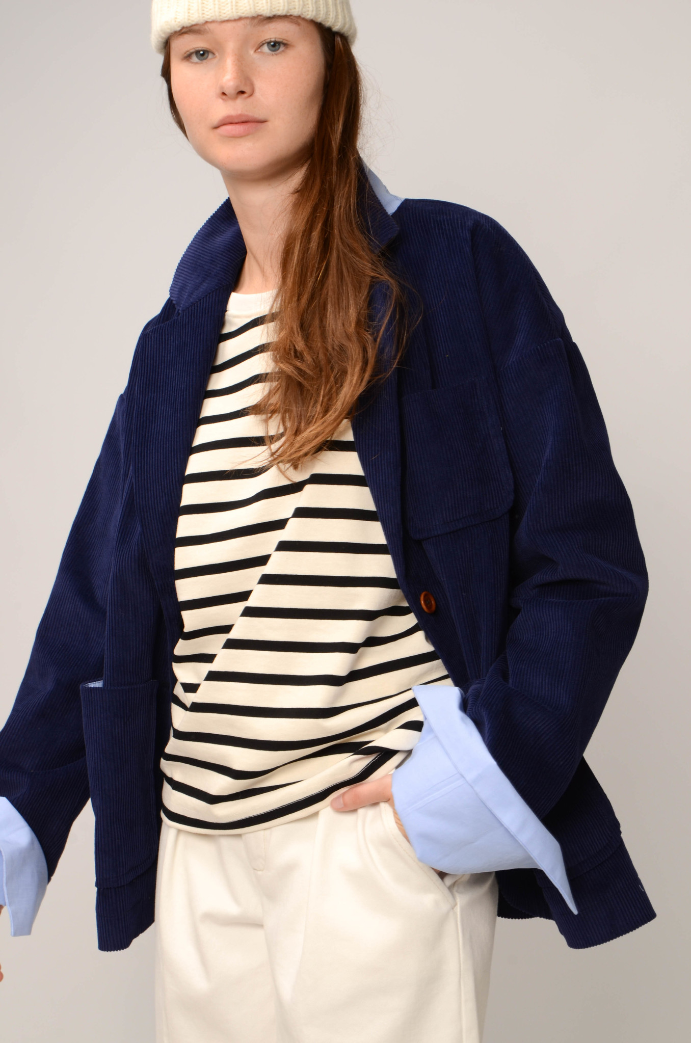 CAMILLE JACKET IN ROYAL BLUE-7