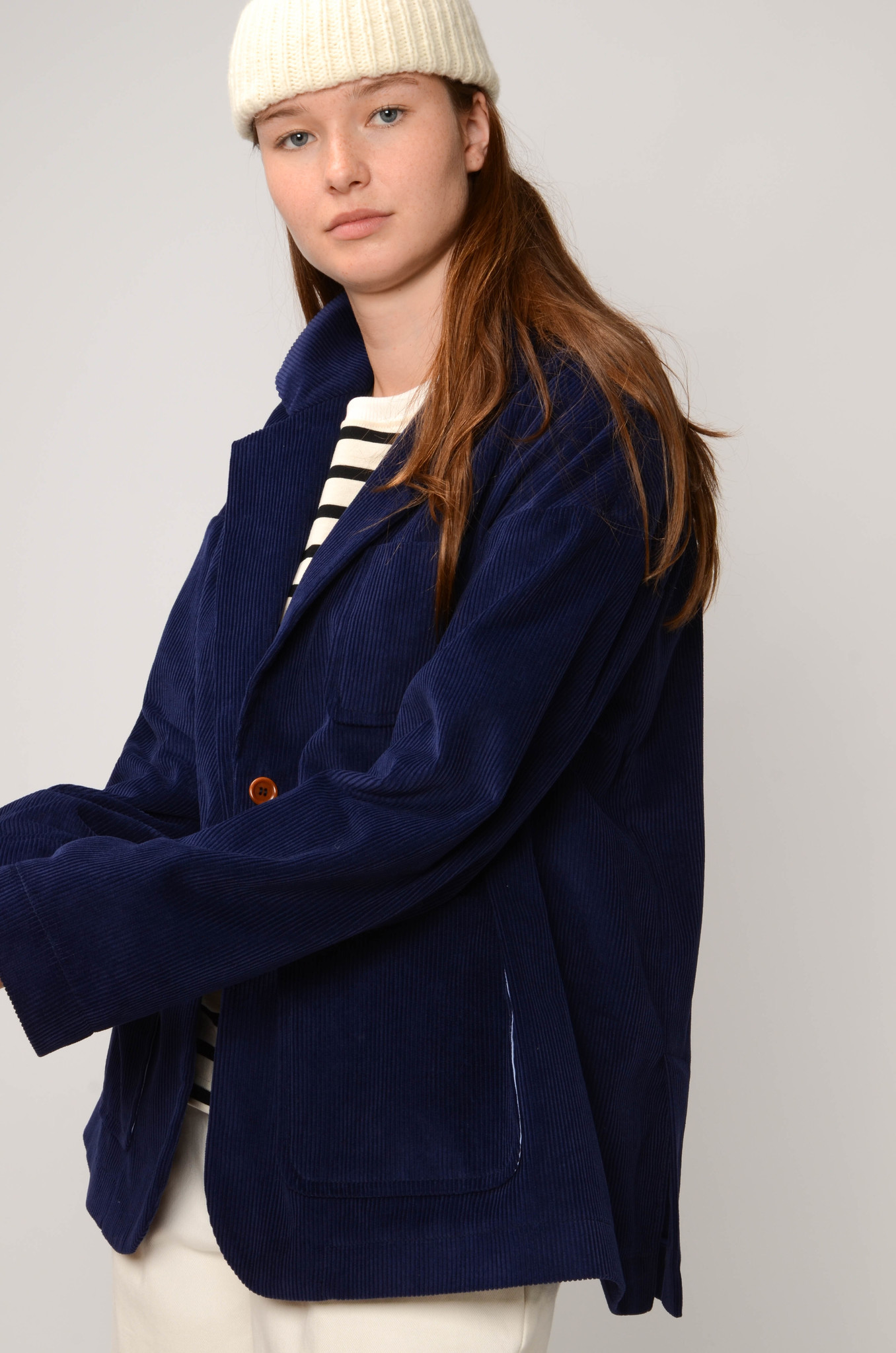 CAMILLE JACKET IN ROYAL BLUE-5