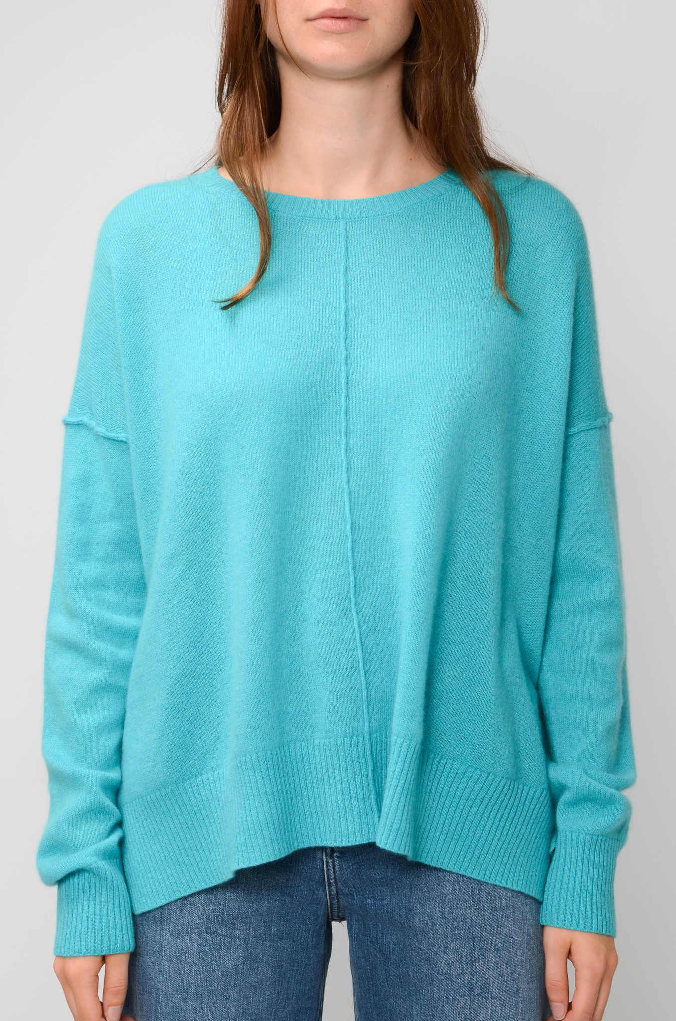 KENZA SWEATER IN TURQUOISE-1