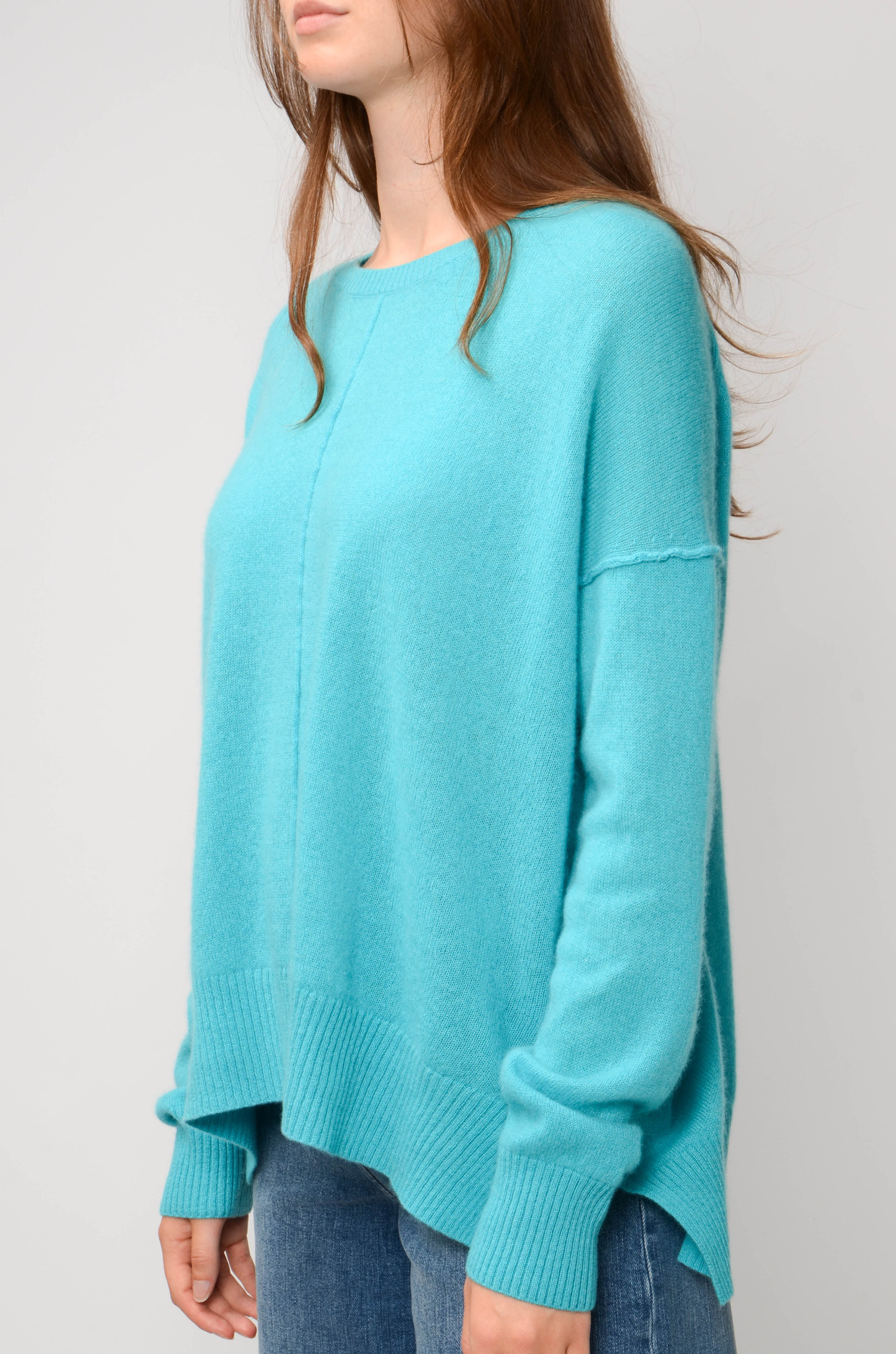 KENZA SWEATER IN TURQUOISE-3
