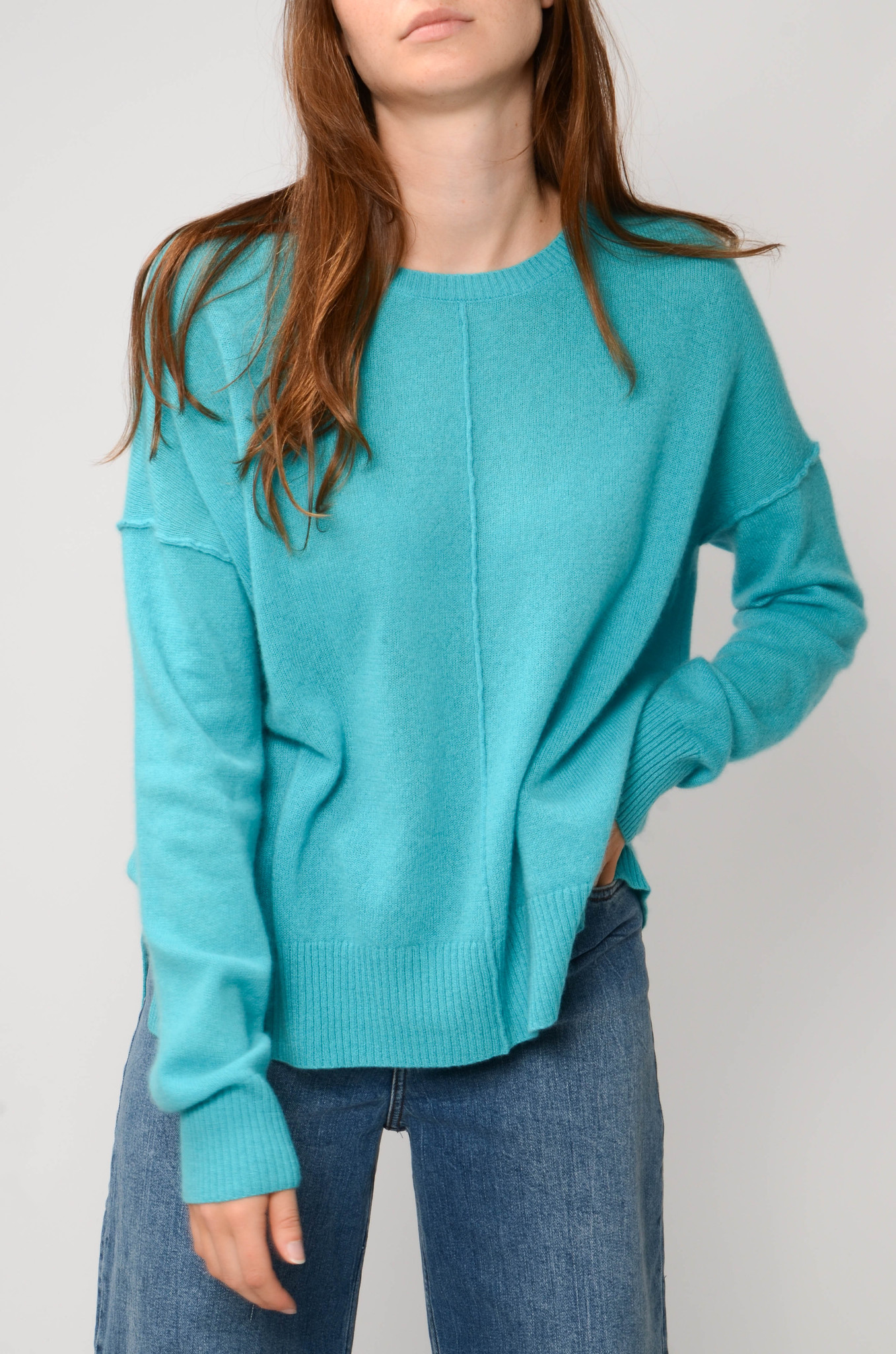 KENZA SWEATER IN TURQUOISE-5