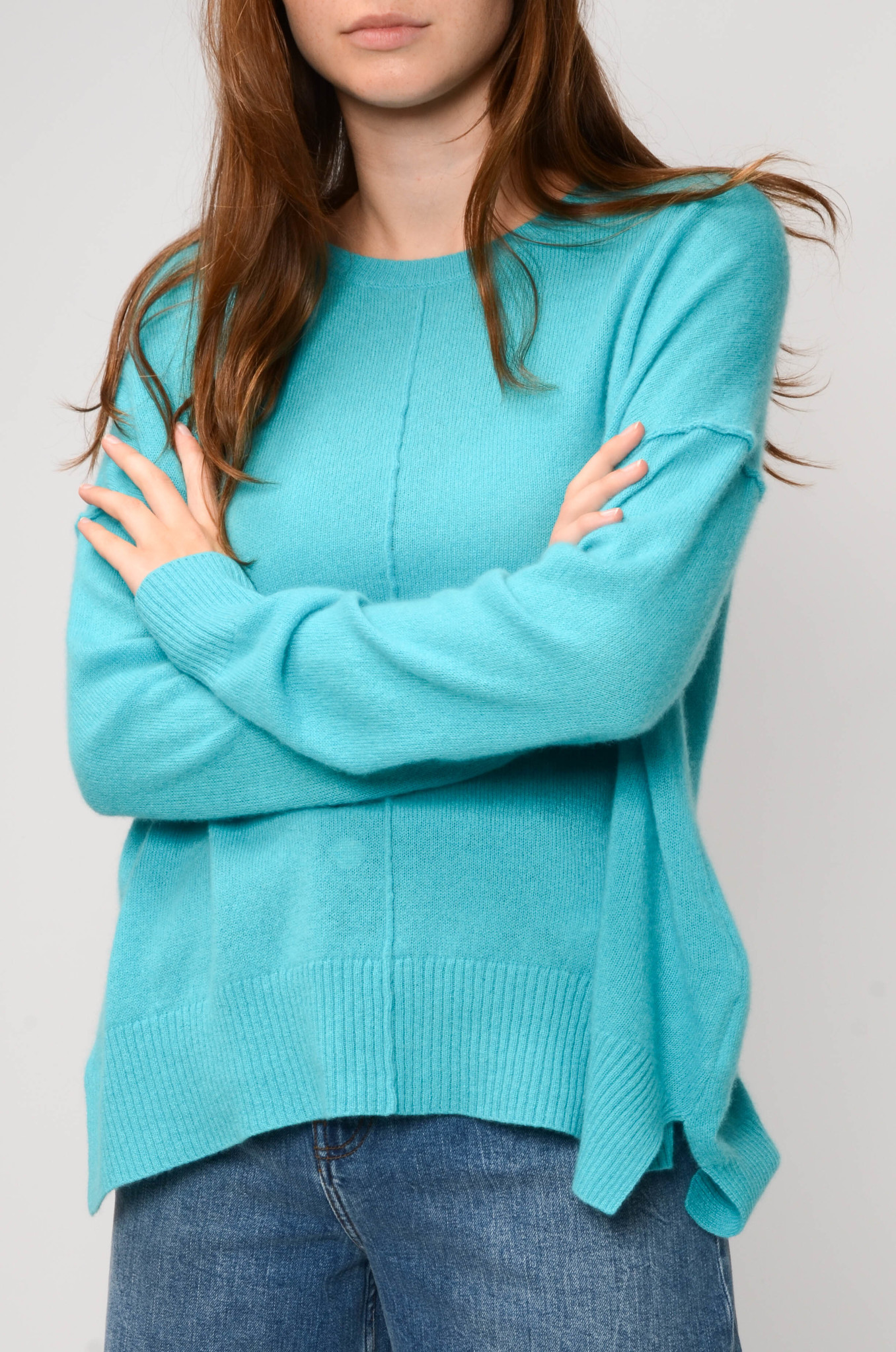 KENZA SWEATER IN TURQUOISE-6