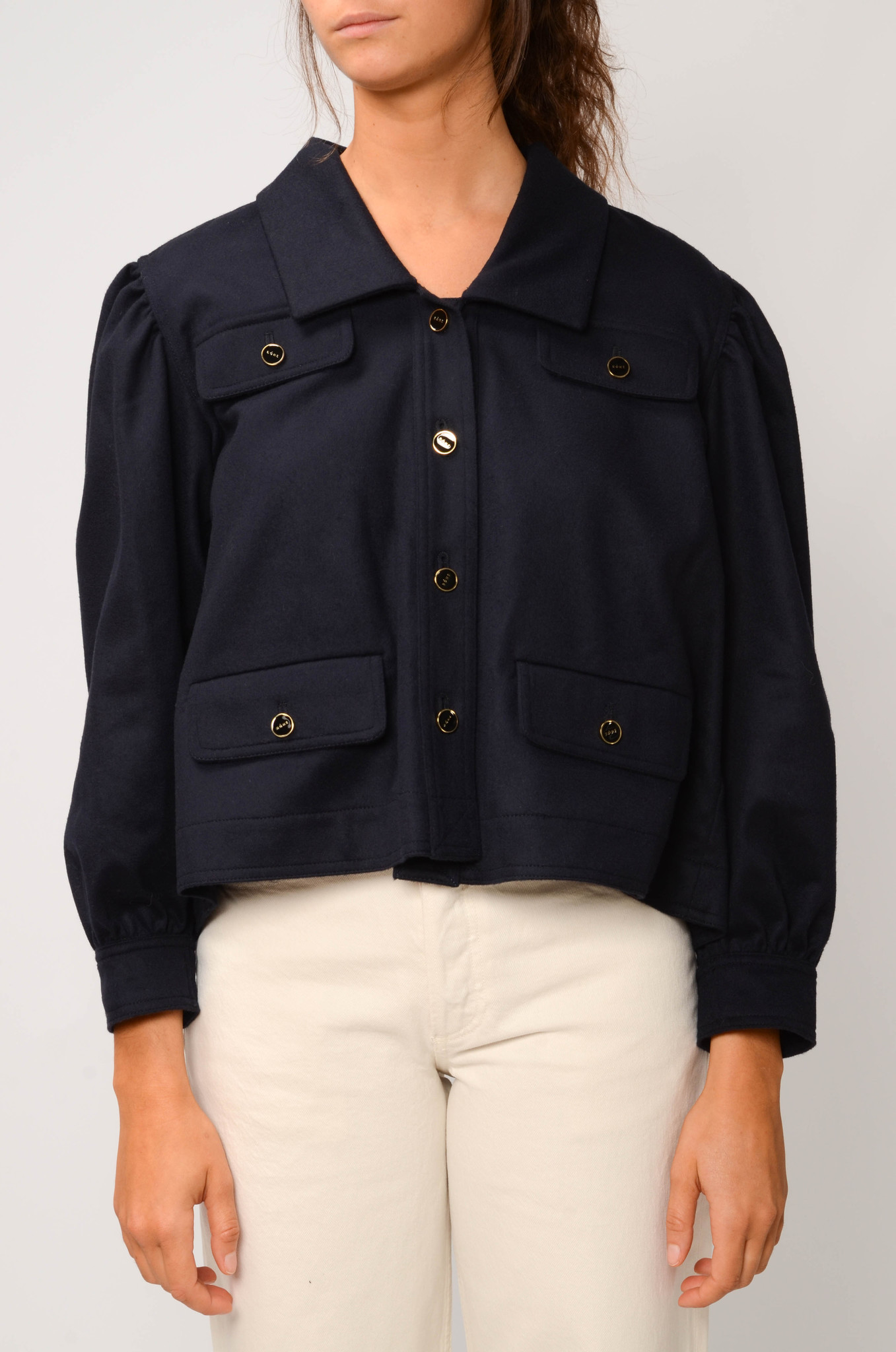 CATHERIN BLOUSE IN NAVY-1