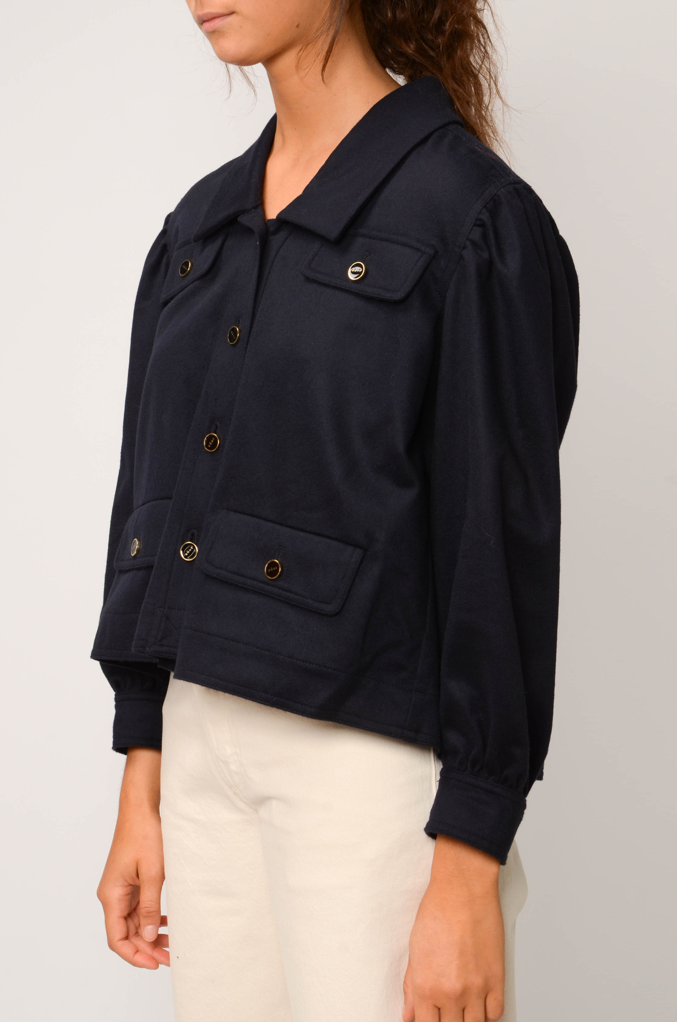 CATHERIN BLOUSE IN NAVY-3