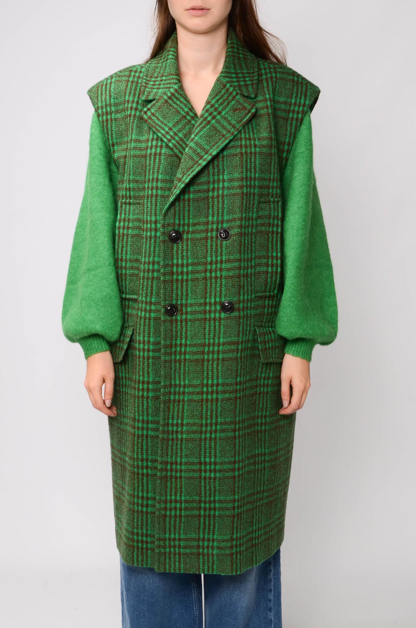 DECKA COAT IN GREEN CHECK-1