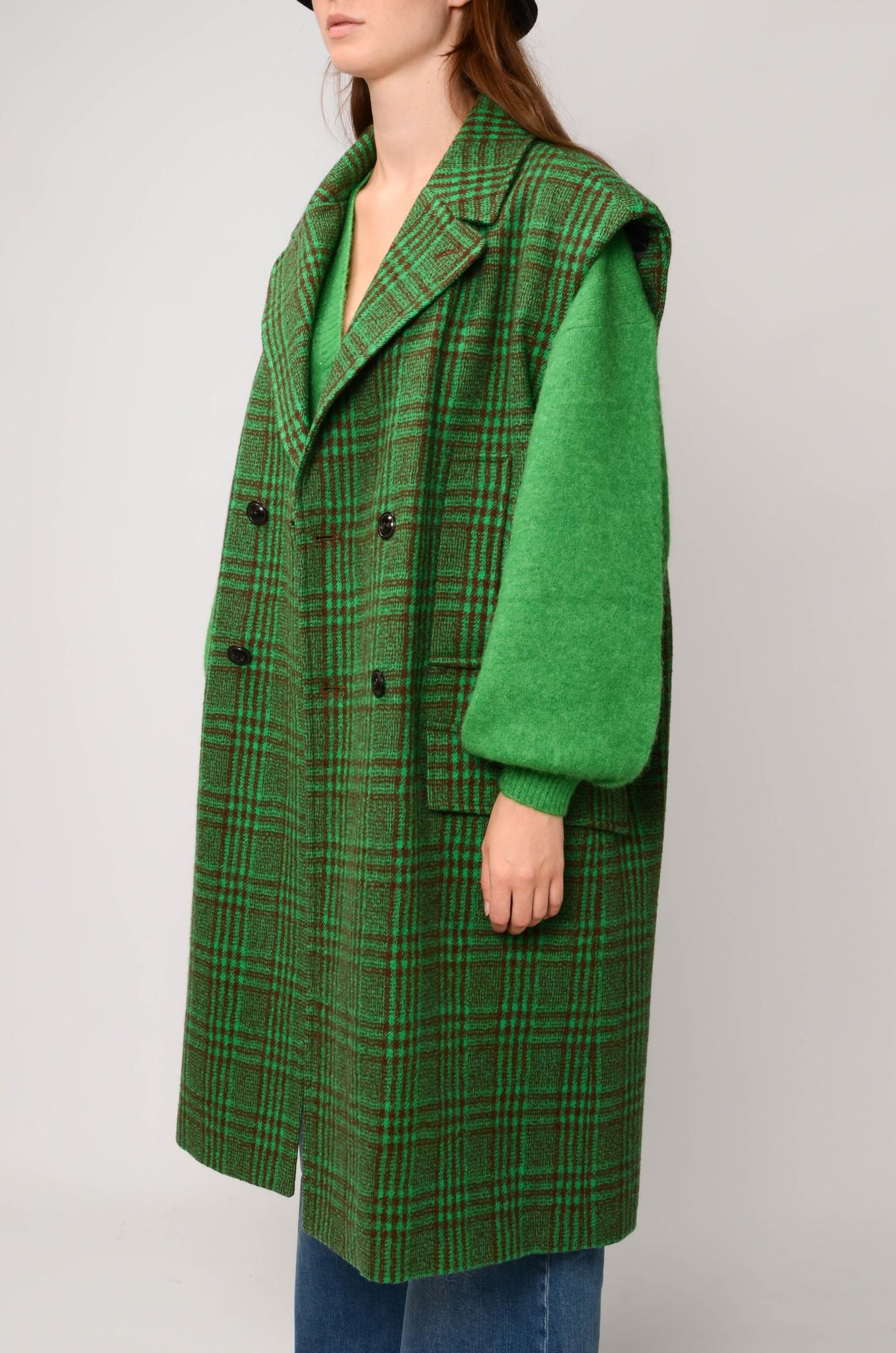 DECKA COAT IN GREEN CHECK-3