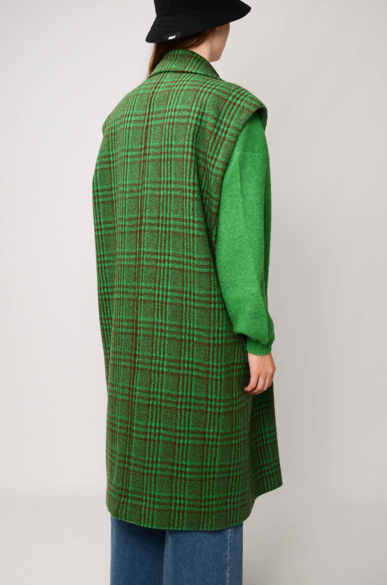 DECKA COAT IN GREEN CHECK-4