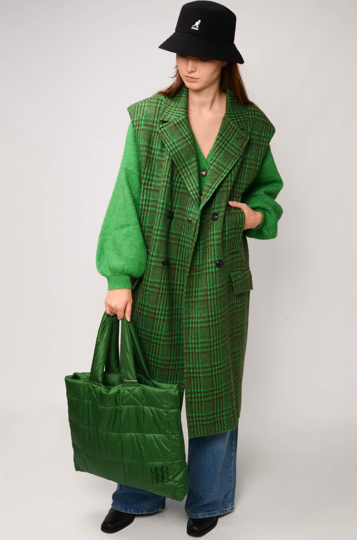 DECKA COAT IN GREEN CHECK-6