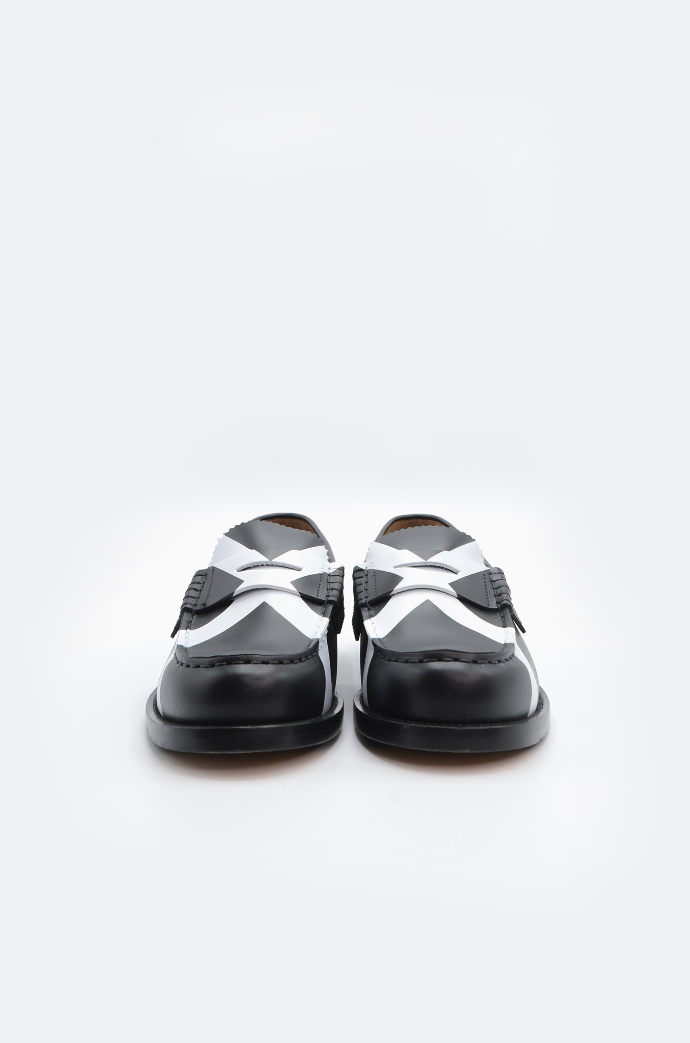 PENNY LOAFER IN BLACK X WHITE-3