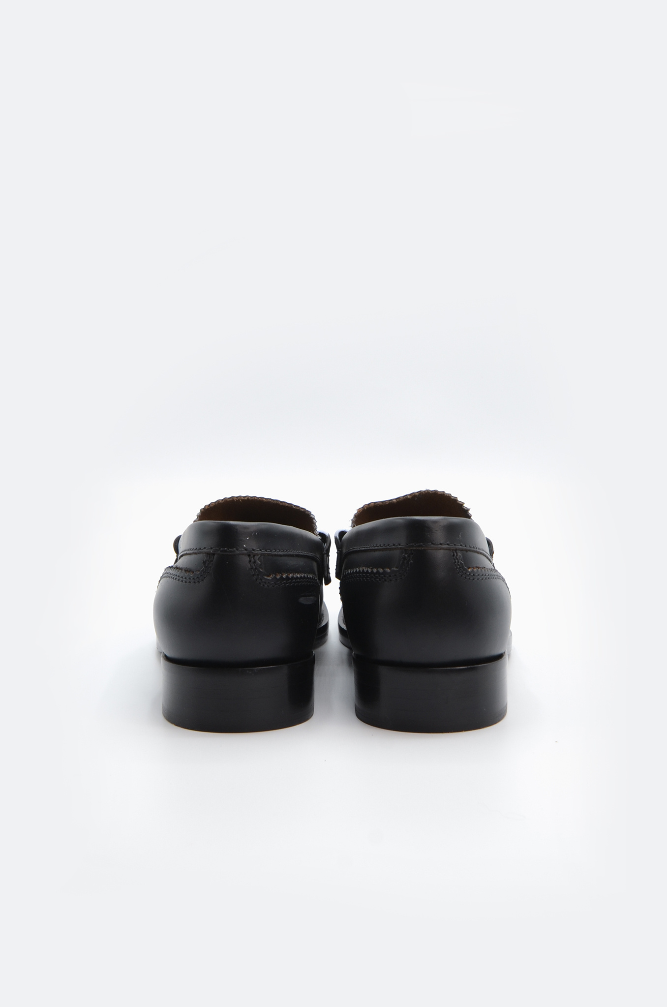 PENNY LOAFER IN BLACK X WHITE-5