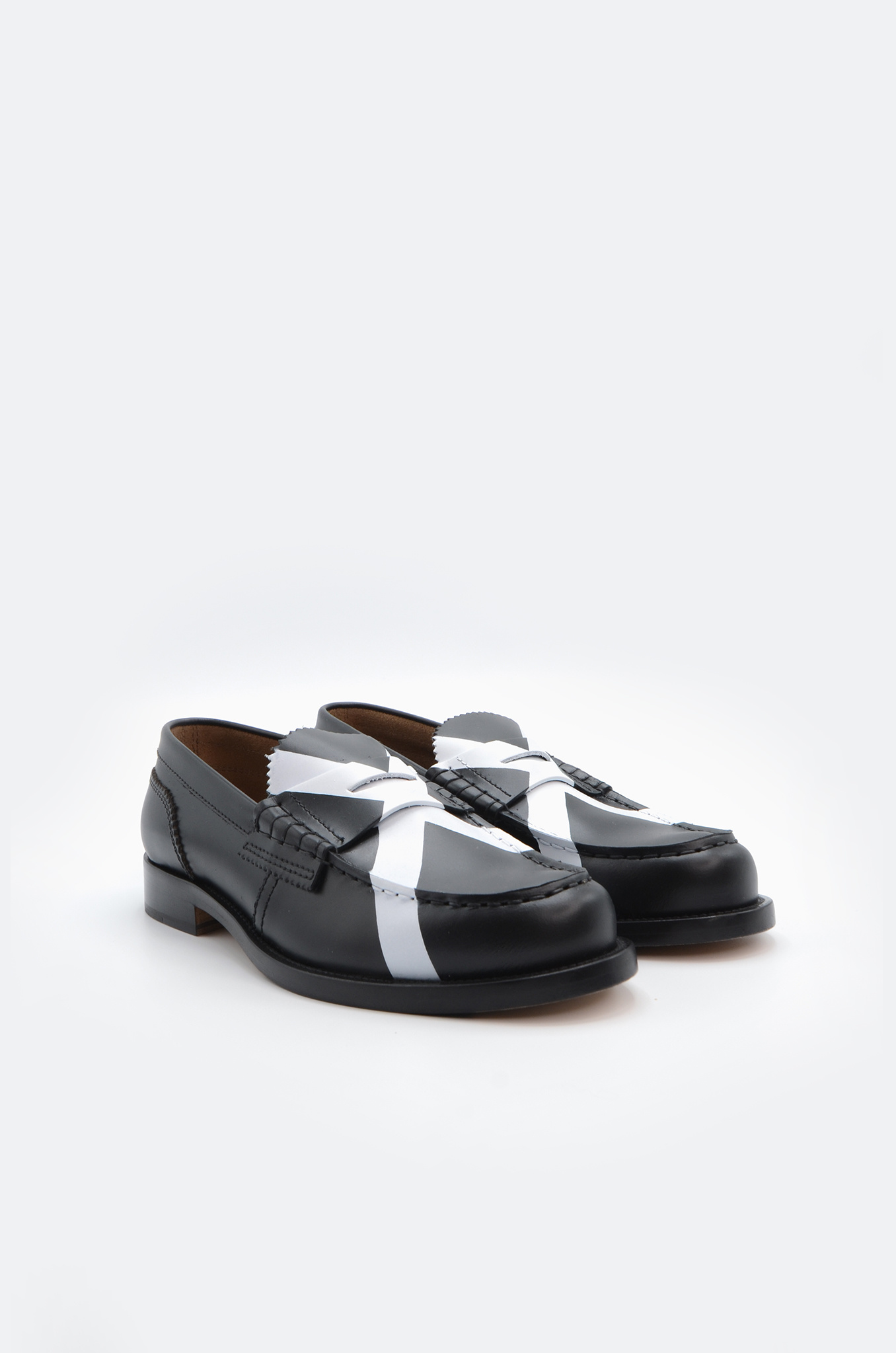 PENNY LOAFER IN BLACK X WHITE-2