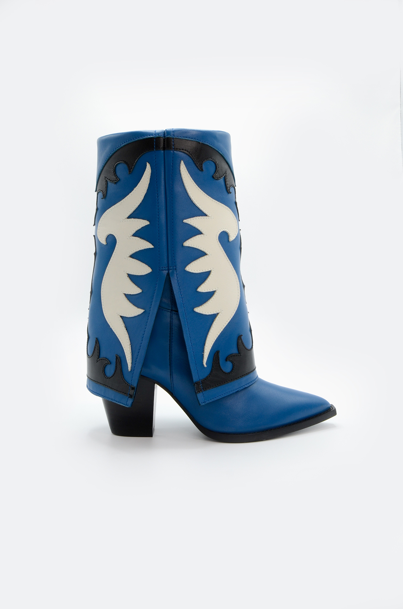 WESTERN STYLE BOOT IN BLUE-1