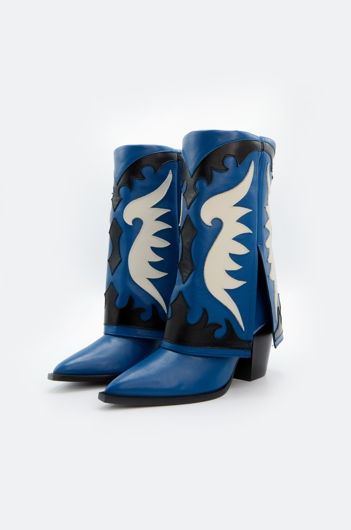 WESTERN STYLE BOOT IN BLUE-4