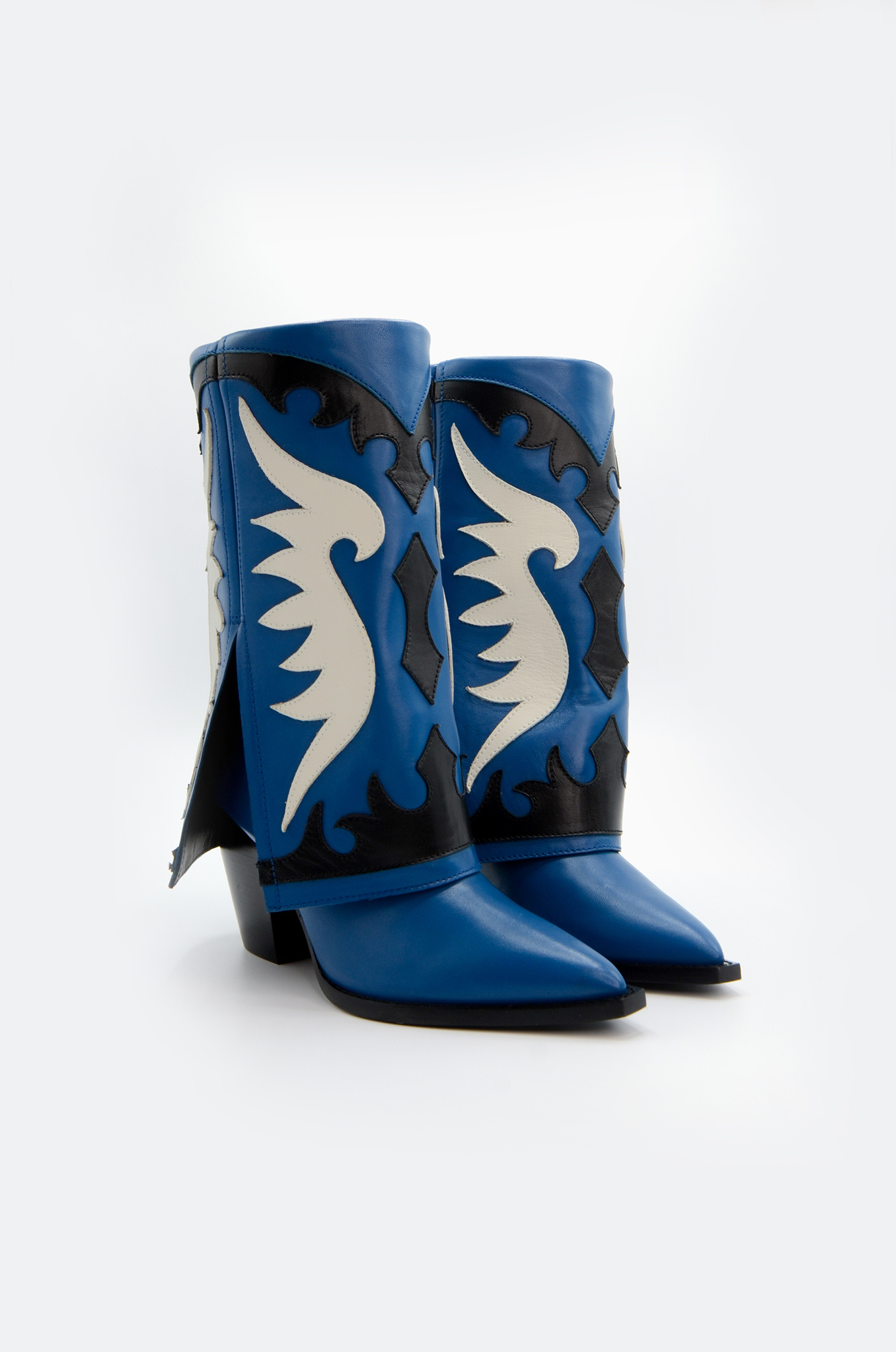 WESTERN STYLE BOOT IN BLUE-2