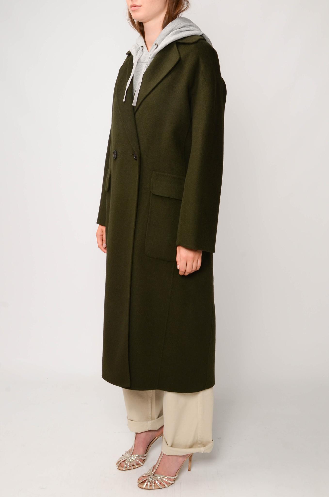 LONG COAT IN DARK GREEN-3