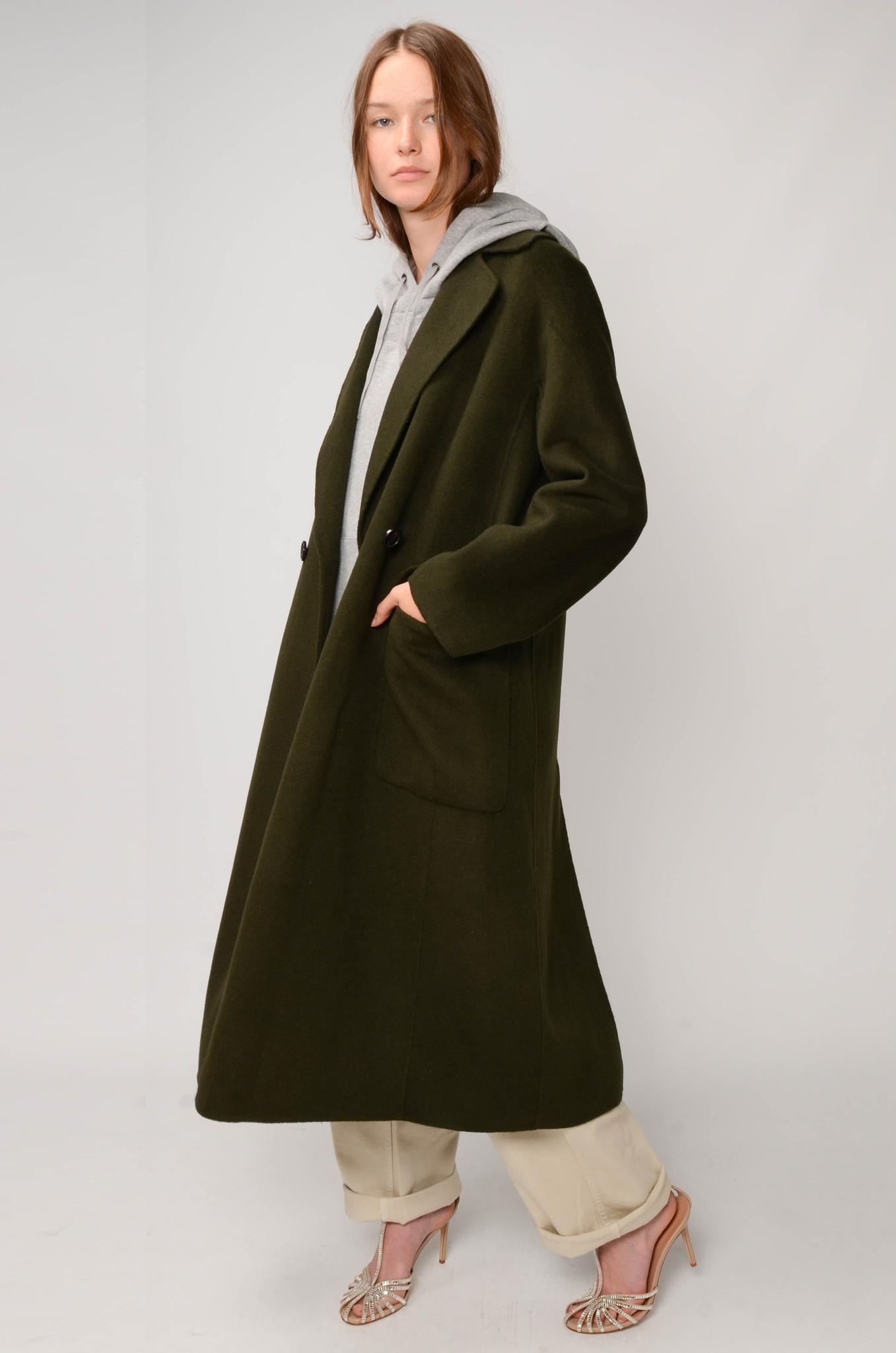 LONG COAT IN DARK GREEN-2
