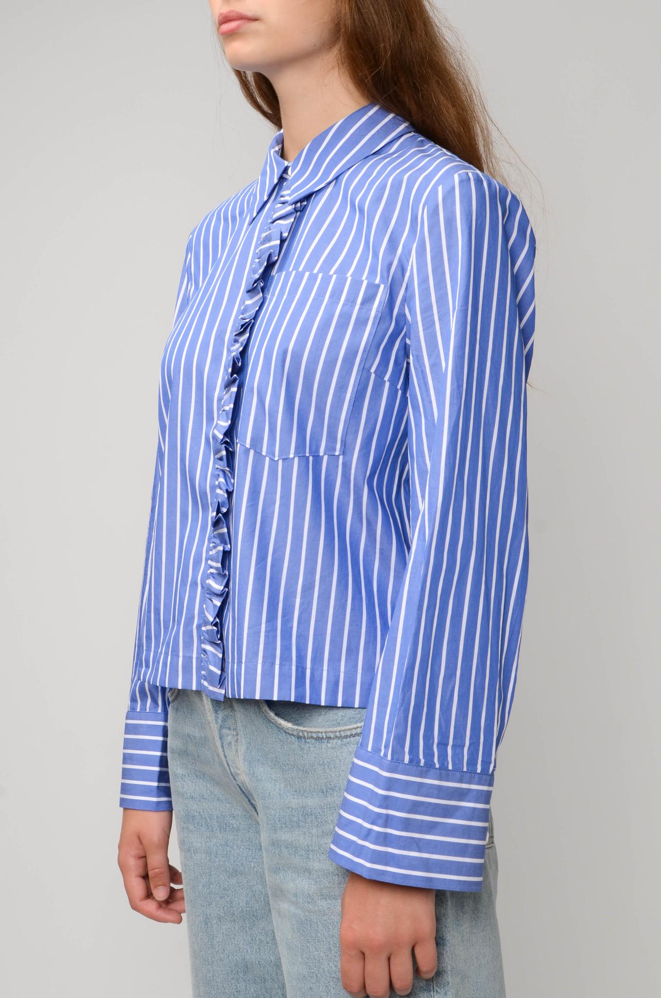 BLUE STRIPE MILU SHIRT-3