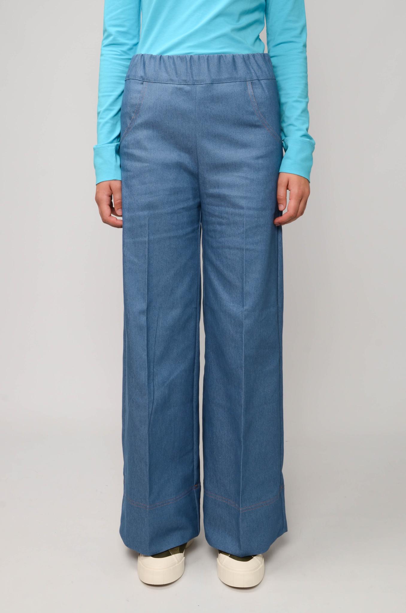 WOODY PANTS BLUE DENIM UNI-1