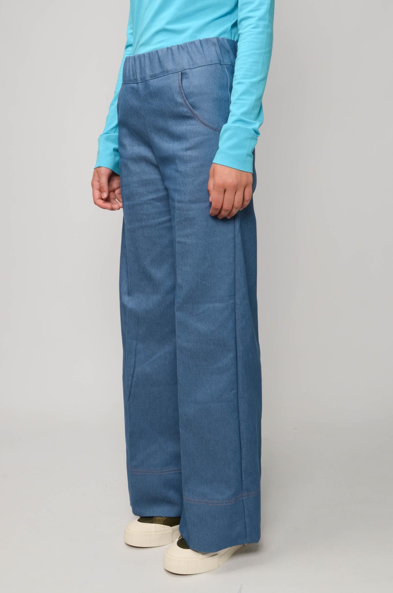 WOODY PANTS BLUE DENIM UNI-3