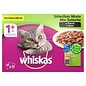 Whiskas 4x whiskas multipack pouch adult mix selectie vlees / vis in saus