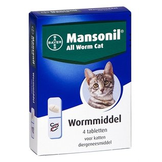 Mansonil Mansonil kat all worm tabletten