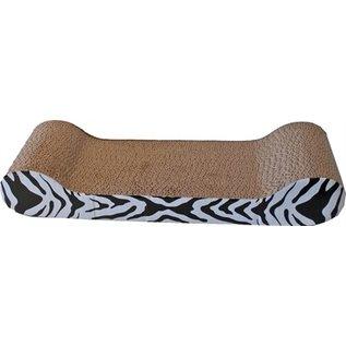Merkloos Krab karton sofa zebra