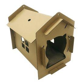 Croci Croci kattenhuis villa karton bruin