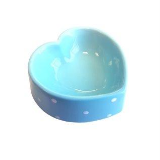 Happy pet Happy pet voerbak polka dot hart blauw