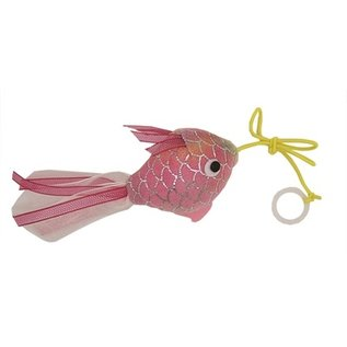 Happy pet Happy pet mermaid goudvis aan touw roze