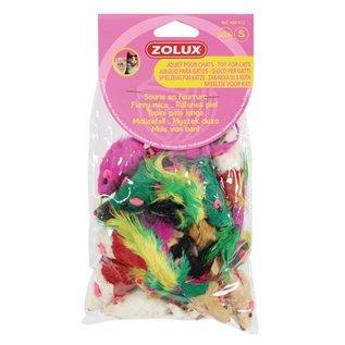 Zolux Zolux kattenspeelgoed bontmuisjes assorti