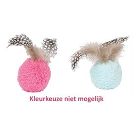 Happy pet Happy pet dotties bal met veren assorti