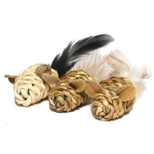 Jolly moggy Jolly moggy natural wild speelmuis mini met catnip