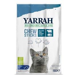 Yarrah Yarrah biologische kauwstaafjes kat vis met zeewier en spirulina