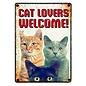 Plenty gifts Plenty gifts waakbord blik cat lovers welcome