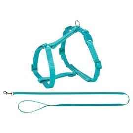 Trixie Trixie premium kattentuig met riem turquoise
