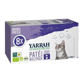 Yarrah Yarrah cat alu pate multipack chicken / turkey