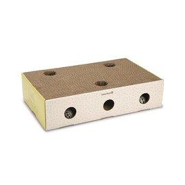 Beeztees Beeztees kitten krabplank box riva geel / wit