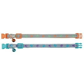 Trixie Trixie halsband kat print poot reflecterend assorti