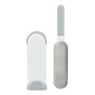 Trixie Trixie harenpluizenborstel met reinigingsstation wit / grijs