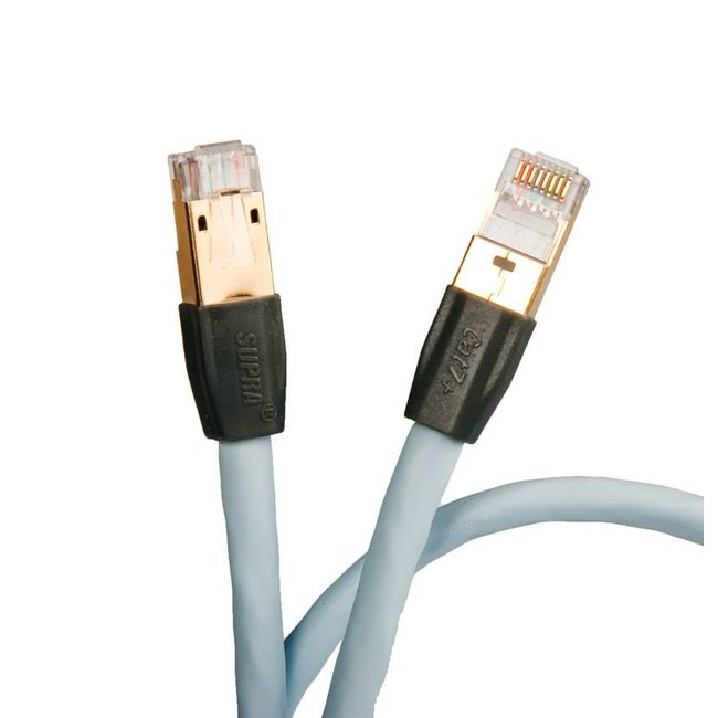 Supra Cables Cat 7+ netwerk kabel 1m met connectors