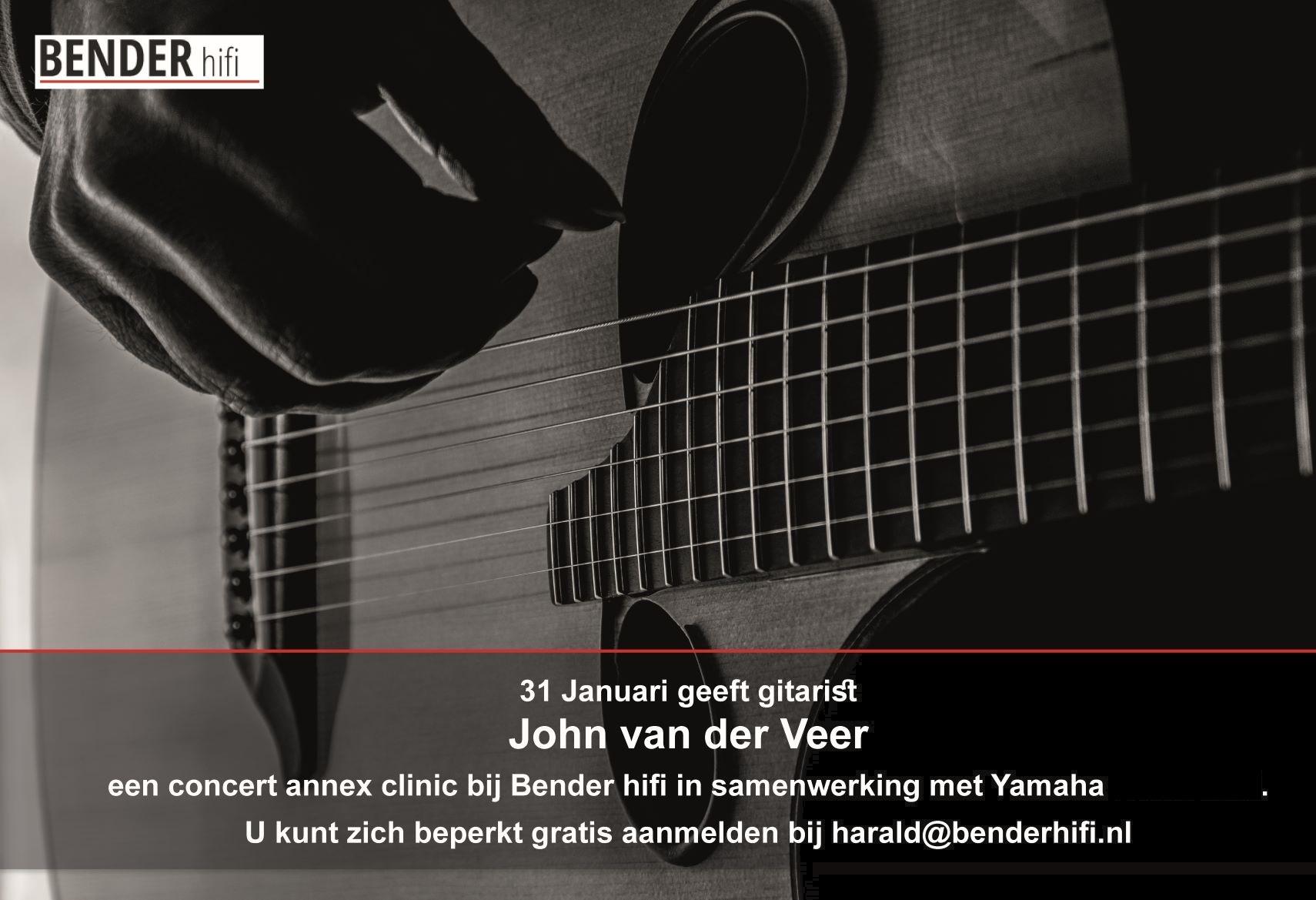 Optreden gitarist John van der Veer bij Bender hifi
