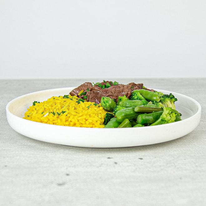 Beef-Gele Rijst-Broccoli