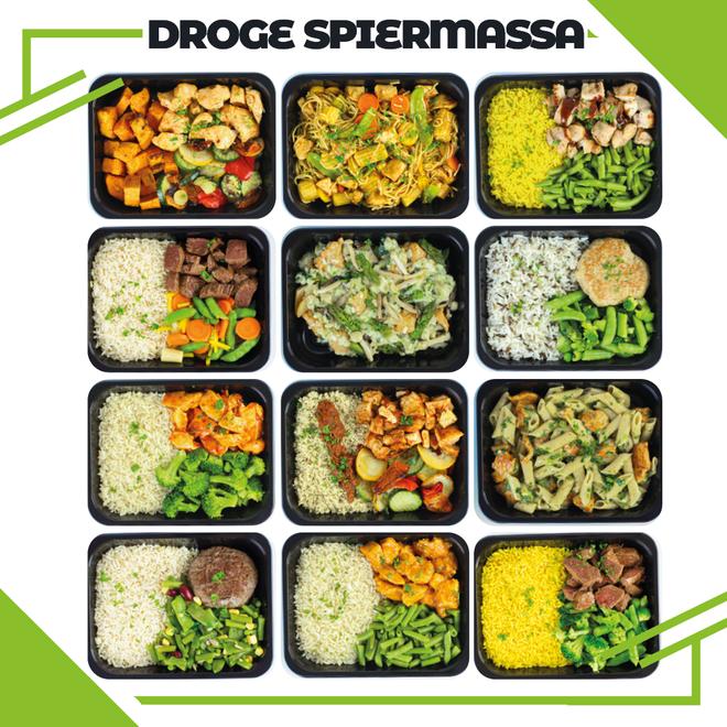 Droge Spiermassa ¨Combi Deal Actie Pakket¨ (maaltijdpakket 12 smaakvariaties)